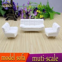 dollhouse miniature - Mission Craftsman Sofa Settee miniature dollhouse furniture scale Unpainted Layout Building Diorama