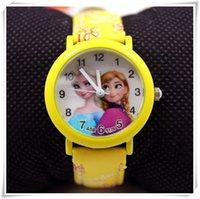 Wholesale watches frozen watch child wristwatch kids wrist watch Children fashion quartz cartoon Anna Cute Lovely Girl woman lady