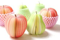 Wholesale kinds Apple Shape Fruit Note Memo Pads Portable Scratch Paper Notepads Post Sticky kinds