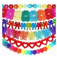Wholesale 10pcs m Hanging Tissue Paper garland Wedding Birthday Party Home Decorations