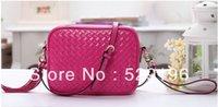 Wholesale 10pcs free fedex super promotion genuine leather handbag candy color jelly bag messenger bags
