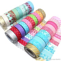 Wholesale Designs High Quality mm m Party Washi Paper Tape Assortment Office Adhesive Tape Paper Tape A5