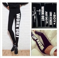 Polyester american minute - 2015 new high quality leggins colors Work out print cotton leggings low waist nine minutes pants leggings for women Black leggings L494