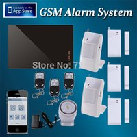 Wholesale Wireless wired GSM Burglar Auto Dial Burglar Alarm System GSM Android IOS APP Smart Home Security System
