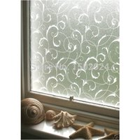 privacy window cling - 45x100cm PVC Frosted Removeable Window Glass Film Sticker Privacy Flower Static Cling Cover Adhesive switchable Frosted vinyl