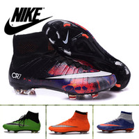rubber boot - 2016 Nike Cleats Mercurial Superfly FG Soccer Cleats CR7 Men Nike Shoes Outdoor Sport Boots Lightweight Football Shoes For Men size