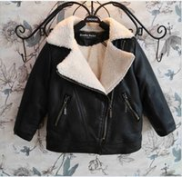 korean leather jacket - Korean Big Boys Jacket Faux PU Turn down Collar Leather Cardigan Winter Kids Boy s Coat Jackets DHL EMS FEDEX ARMAE Free Black Brown K2074