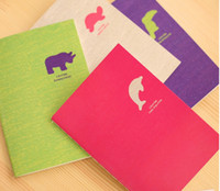 Wholesale South Korea creative color optional four color small notebook Notepad animal small notebook