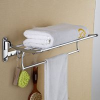Wholesale Top Grade Stainless Steel Made Towel Rack Bathroom Accessories CM Length Modern Towel Holder Racks Shelf order lt no track