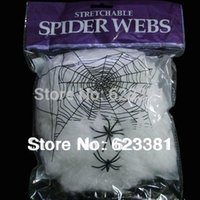 halloween decorations - Event Party Supplies Halloween Haunted House Prop Decoration Supplies A Large White Spider Web Prom Decorations