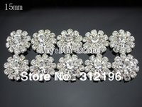 Wholesale EMS mm Clear Spark Rhinestone Button Alloy Clear Rhinestone Button Jewelry Accessory