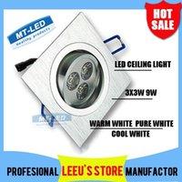 Wholesale X50 DHL Dimmable Led Ceiling light W LED Recessed Ceiling Down spot Light V led bulb lamp downlight lighting spotlight