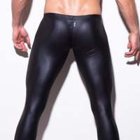 Cheap Wholesale-Shino shaping pants wholesale men's underwear catwalk leather pants leather pants pants pantyhose stage show foreign trade
