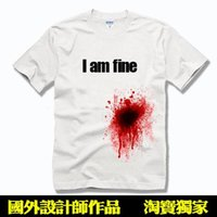 100 cotton white t shirt - 2015 I am fine Cotton Funny Mens Womens Lovers clothes short sleeve t shirts casual shirt white tee D T shirt TS01