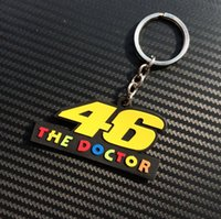 Wholesale Interior Accessories Key Rings packs MOTO GP motorcycle key chain motorcyle keyring chains valentino rossi keychains for yamaha