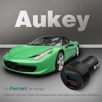 Wholesale Qualcomm Certified Aukey Quick Charge W Ports USB Car Charger Adapter AIPower V A Quick Charge with Micro cable