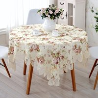 Wholesale New Arrival High Quality cm Elegant Polyester Jacquard Printed Lace Tablecloth Table linen Cloth Covers