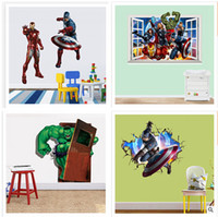 Wholesale New The Avengers Wall sticker CM Children D Window Wall Sticker styles Rooms Decorative Wall Decals Home Decoration Posters m0269