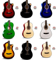 Wholesale 38 inch guitar acoustic guitar for beginners full set of accessories