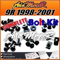 achat en gros de kit carrosserie zx9r-Addmotor 92 Pièces / Set Black Complet Kit de boulons Vis du corps Fixations pour Kawasaki ZX9R 1998-2001 ZX 9R 98-01 K90S