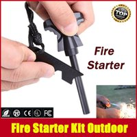Wholesale Magnesium Stone Flint Fire Starter Kit Outdoor Survival Free Drop Shipping