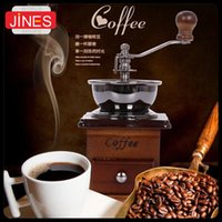 Wholesale Vintage Household coffee beans grinding machine beans dry sesame powder gristmill Hand Crank Kitchen Appliances Burr Grinder