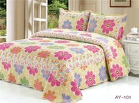 Wholesale Cotton Quilted Blanket Different Colors Design Factory Direct Bed Cover Bed Sheet piece Twin