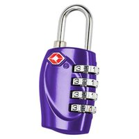Wholesale 100PCS cash supply TSA330 zinc alloy four bags password padlock customs high quality