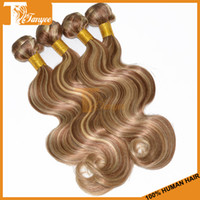 Cheap Piano Color Virgin Brazilian Remy Hair Weft Body Wave 4pcs Lot 5A Good Quality Human Hair Extensions Cheap Hair Weave #8 613 Hair Products