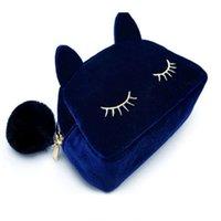 beautiful cosmetic organizer - Beautiful women Cosmetic bag Fashion Women necessaries makeup Lovely Cat make up bags travel kit jewelry organizer beautician