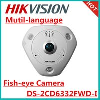 Wholesale Hikvsion MP WDR Fish eye Network Camera DS CD6332FWD I ICR Day Night support POE ip66 Bulit in microphone speaker ip camera