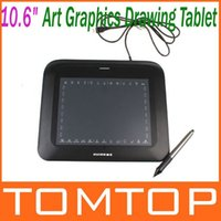 Wholesale 10 quot Art Graphics Drawing Tablet Hot Keys Cordless Digital Pen for PC Laptop Computer with USB Cable