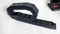 Wholesale 1Meter x38 mm JFLO Closed Open on both sides type Plastic towline Wire Carrier cable drag chain tanks chain hot selling