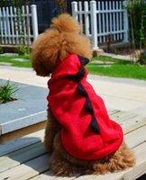 Wholesale 80pcs New pet dog winter clothes Cute warm coat Dinosaur Coat Clothes Halloween Costume Hoodies pet Apparel HX