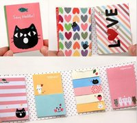 stationery and office supplies - Japan and South Korea Stationery fold small animal book tear N times stickers sticky notes Students office supplies QY