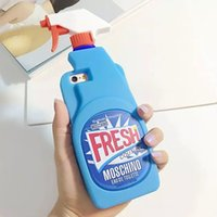 fresh apple - Fresh Couture Clean Detergent Spray Back Cover Case Soft Cartoon Silicon Case for iphone S iphone S plus S plus