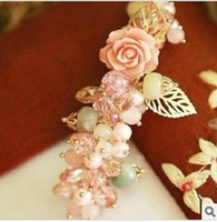 Wholesale New Hair Jewelry for Women Small Rose Crystal Luxurious Hairpin Latest Style H112