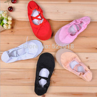 Wholesale New Kid s Girl s Fitness Soft Gymnastics Canvas Ballet Dance Shoes CM