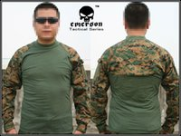 Cheap Wholesale-Emerson Combat shirt Combat T-Shirt woodland MARPAT EM8566