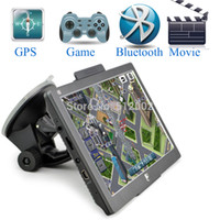 ukraine - 7 inch GPS FM DDR128MB car gps navigator with bluetooth AV IN MTK MS2531 MHZ Navitel Map Russia Ukraine EURO