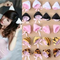 Wholesale New Fashion Women Cosplay Party Anime Cat Ear cute Multi color Women Headwears High Quality Designer Headwear Women
