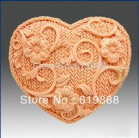 candle mold silicone - M Weave Heart Flower Cake Chocolate Candy Candle Decoration Fondant Mold Tools Silicone Resin Mould Handmade Soap Molds