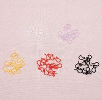 achat en gros de fil de bijoux en plastique-500pcs / lot Mode 8 couleurs oreille en plastique Crochet plastique fils de boucle d'oreille non-allergènes fils d'oreilles conclusions Bijoux Fit bricolage