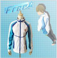 athletic high schools - Anime Free Iwatobi Swim Club Haruka Nanase Cosplay Costume Jacket Unisex Hoodie High School Sprot Wear Christmas gift