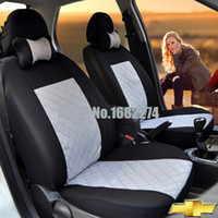 aveo blue - 2 front seats Universal Car Cover Chevrole t sail AVEO Cruze TRAX Epica Malibu CAPTIVA Camaro car accessories