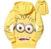 Wholesale Cheapest minions Children Hoodies shirts child Spring hoodies Tops Tee Baby Sweatshirts Coats Spring Autumn Kids Clothing MYF072901