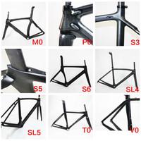 Wholesale stock frame lowest price full carbon road bicycle frame matt glossy finish frameset painted bike frame sl4 sl5