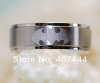 batman brush - USA UK Canada Russia Brazil Hot Sales MM Silver Step Brushed Top Super Batman Men s Tungsten Carbide Wedding