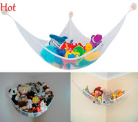 Wholesale New White Hanging Toy Hammock Net Organize Stuffed Animals Dolls Corner Toys Hammock For Baby Childrens Stuffs Storage SV005747