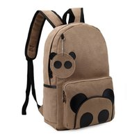 canvas backpacks - Casual Canvas Women Backpack Lovely Panda School Backpack Travel Bags Rucksack Shool Bags For Teenagers Satchel ZF5042